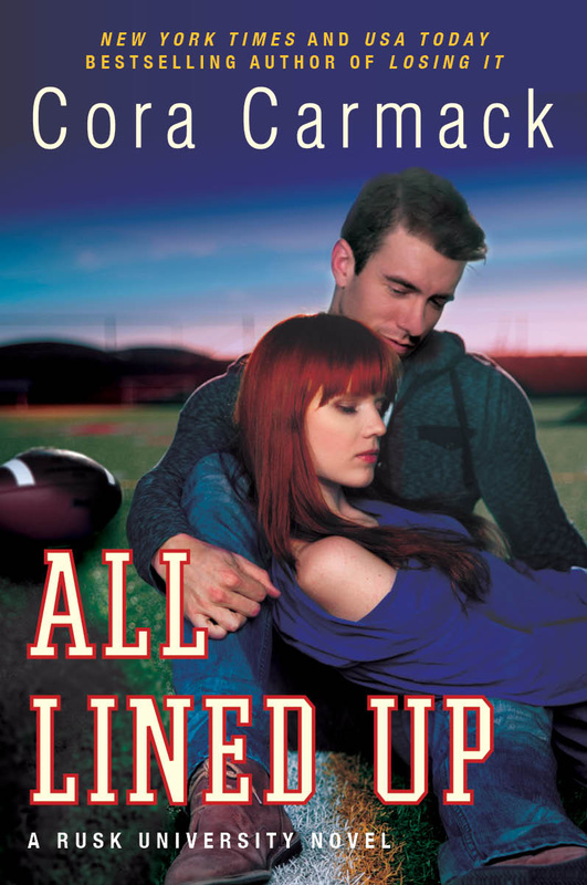 All Lined Up Cora Carmack book cover